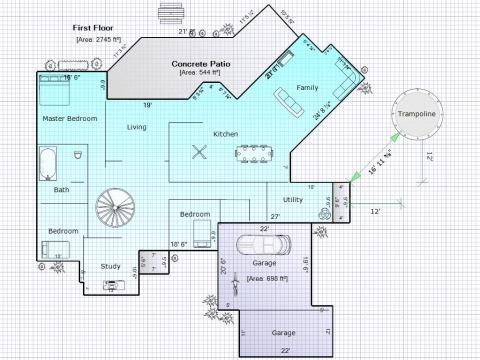28 floor plan area calculator rapidsketch floor for Floor area calculator